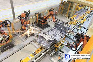自动化机器人加工生产线